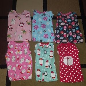 Other - Girls 18 month footed pajamas winter/Christmas